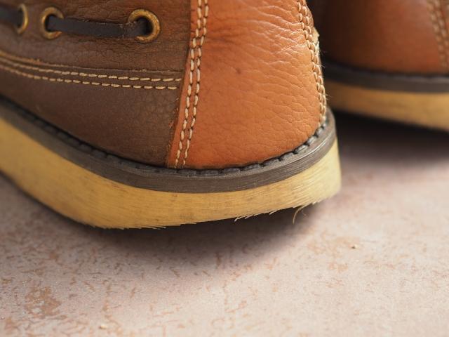 履き癖のついた靴